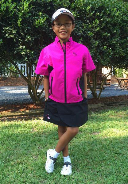 Kids Pink Jacket and Skirt Combo