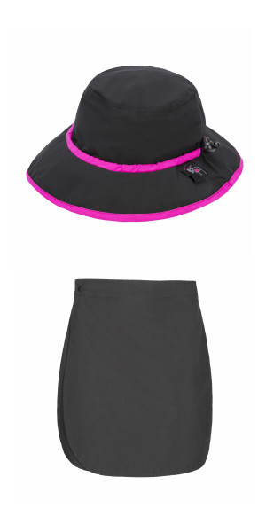 Black Skirt with Rain Hat Combo
