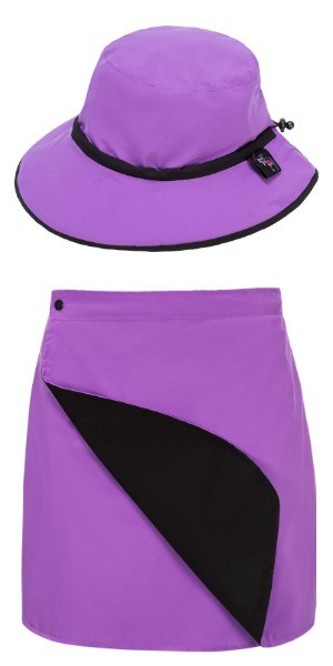 Purple Skirt Hat Combo